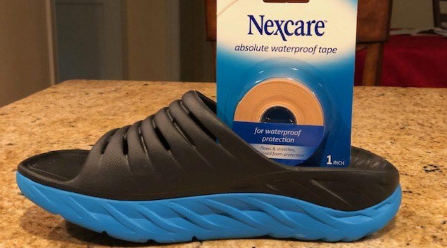 Hoka Sandals and Nexcare Tape