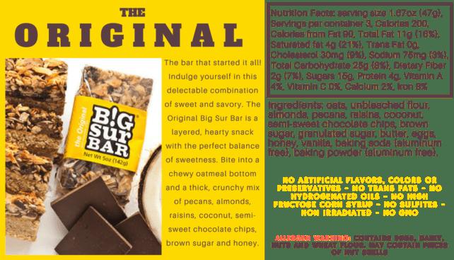 Favorite Backpacking Foods - Big Sur Bars