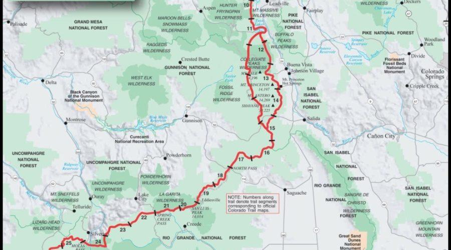 Colorado Trail Map