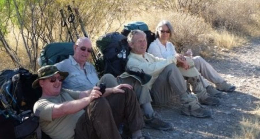 Hikers on the CDT, outside Lordsburg NM