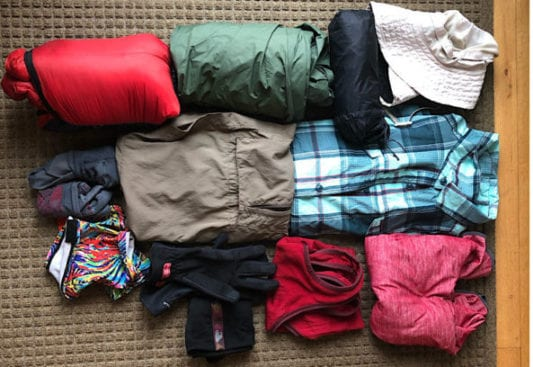 Arizona Trail Clothing Layers