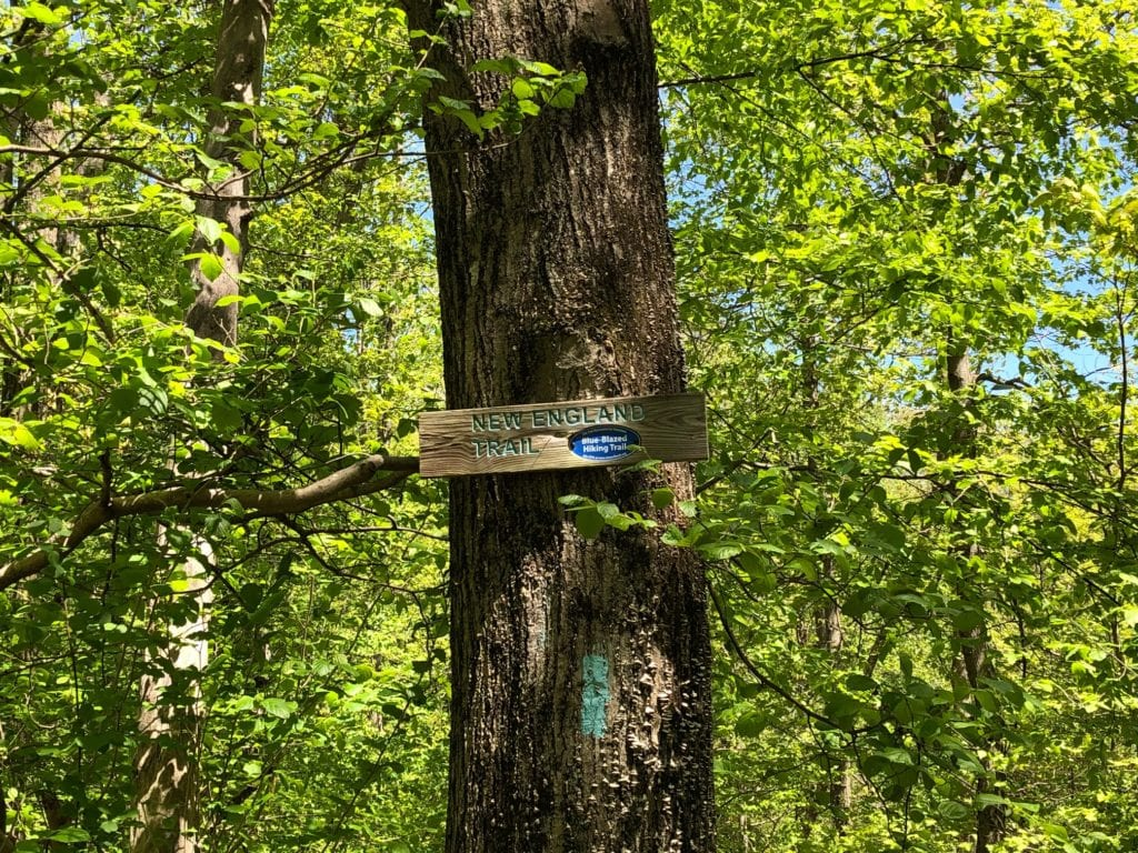 new england trail sign