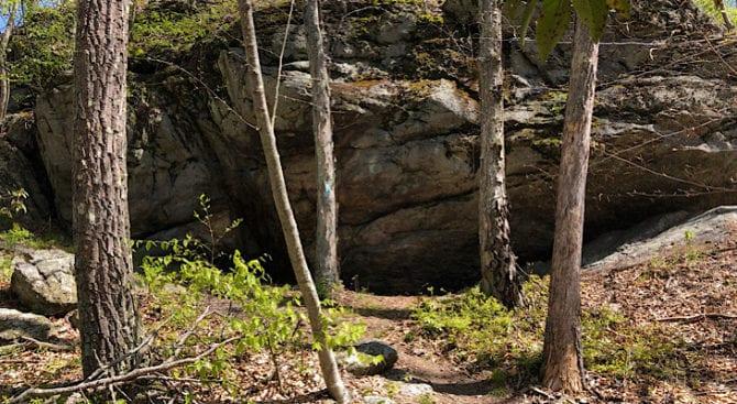 rock cave on the mattabesett NET