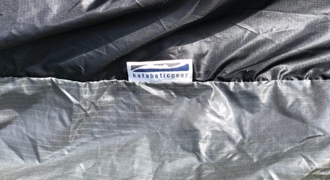 katabatic label on bivy