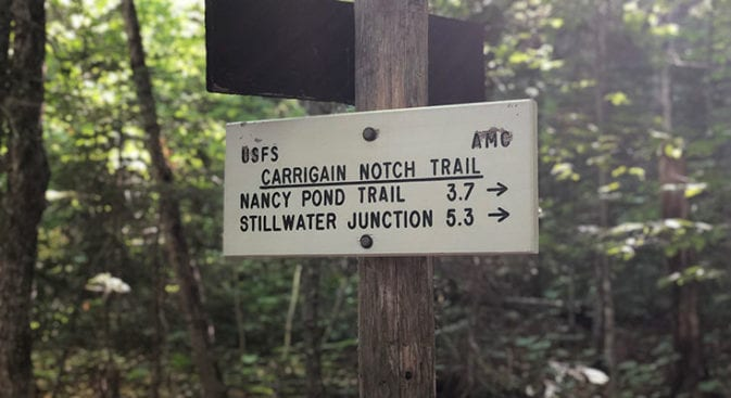 Carrigan Notch Trail on the Desolation Loop