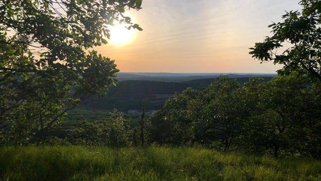 sunset on higby mountain