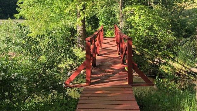 bridge over highland pond