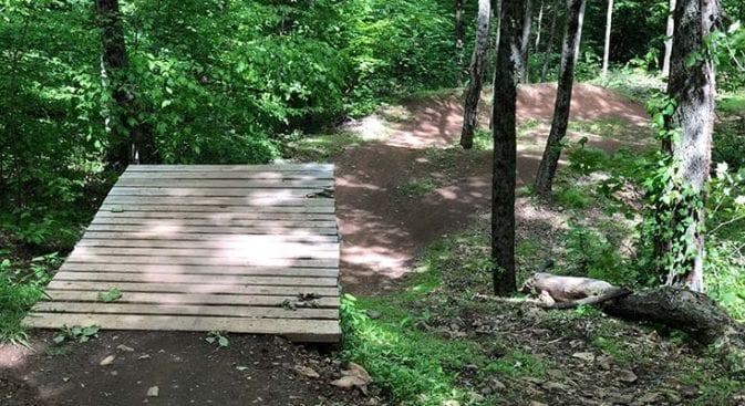 new england trail powder moutain bike course
