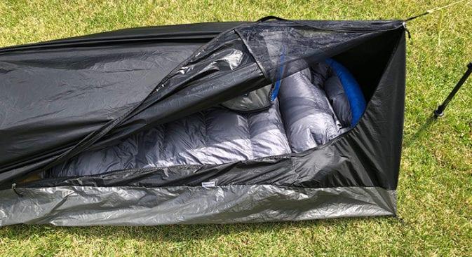 sleeping bag and pad