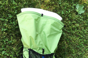Compactor Bag to waterproof backpack contents for average hiker