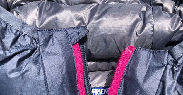 Zipper Tab for the EOS Down jacket for hiking