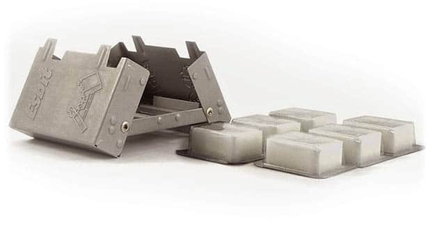 solid fuel tabs and stove for long distance hiking