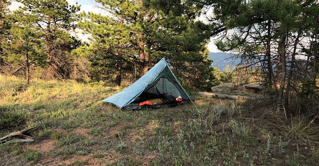 Colorado Trail Campsite the first night