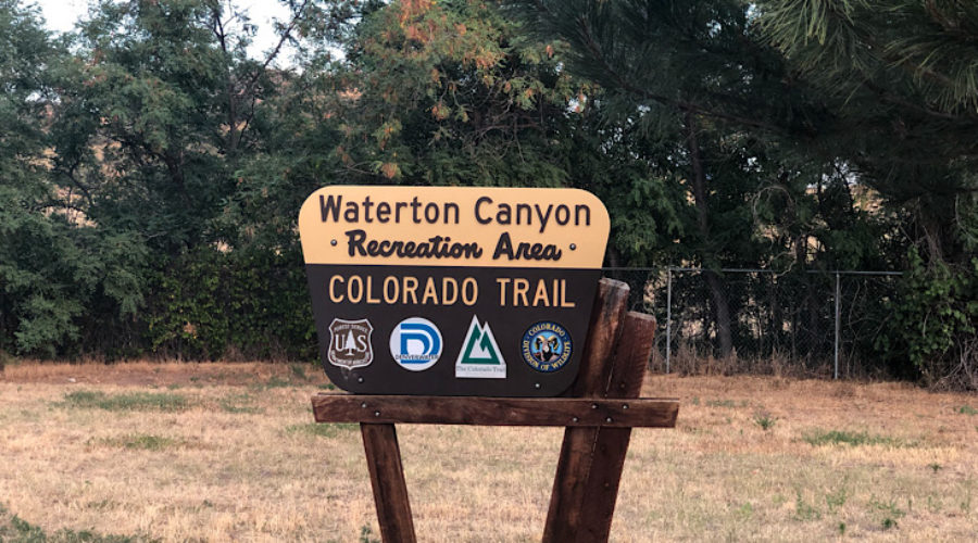 Waterton Canyon sign on Colorado Trail