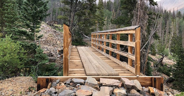 Bridge Over Spillway at Boss Lake on Colorado Trail