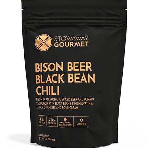 Stowaway Bison Beer Black Bean Chili