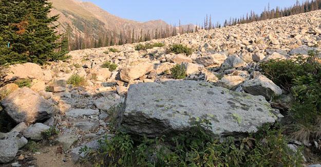 Colorado Trail Day 21 Rock Slide