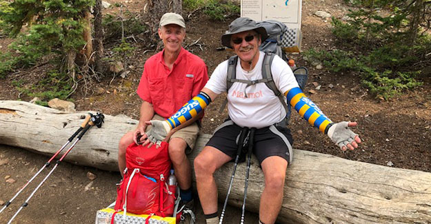 Meeting Pat and Steve on the Colorado Trail near Boss Lake