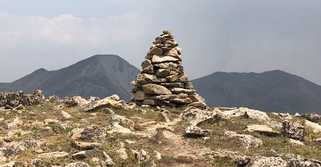 Large Rock Cairn Backpacking Near Monarch Pass