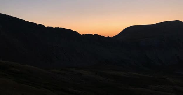Sunrise from Sanford Saddle on the Colorado Trail