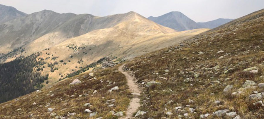Hiking above treeline near Monarch Pass on the Colorado Trail