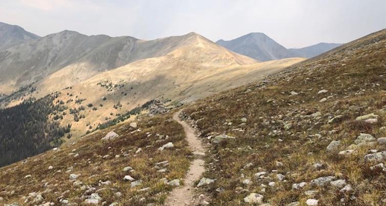 Hiking above treeline near Monarch Pass on the Colorado Trail