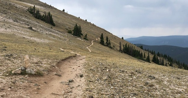 Trail above tree line