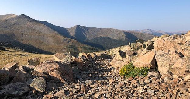Rocky Wind Break Above Treeline on the Colorado Trail