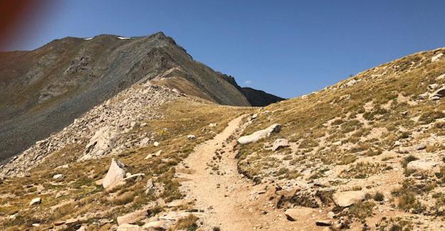 Climb Over the Saddle Near Emma Burr Mountain