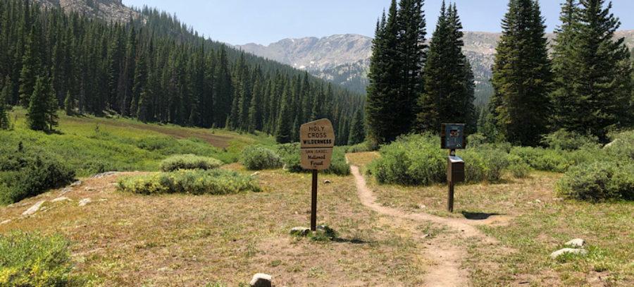 Holy Cross Wilderness Boundary