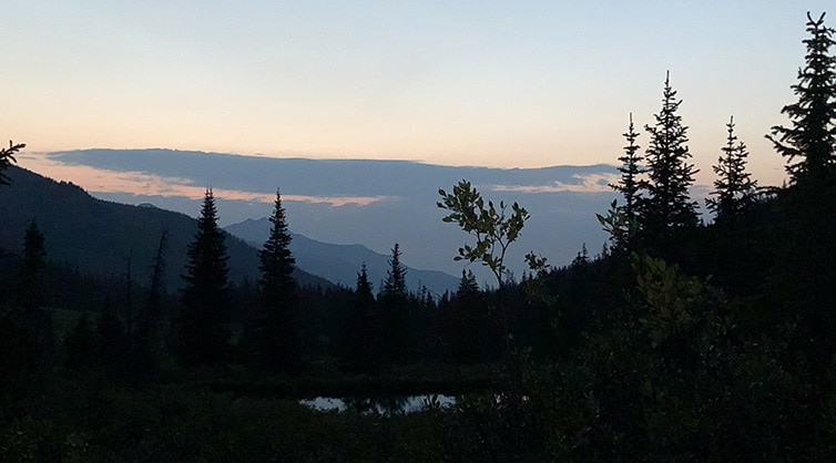 Early Morning Above North Fork of Chalk Creek