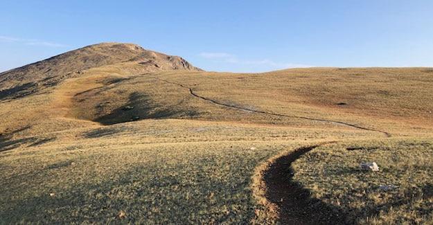 Exposed Ridge Hiking on beautiful trail