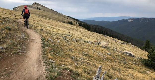 Monarch Pass Colorado Trail Mountain Biker