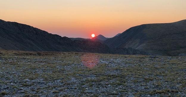 Red Sun Sunrise from Sanford Saddle