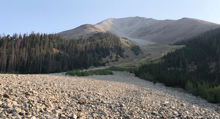 Large Rock Slide Above Arkansas River on the Colorado Trail