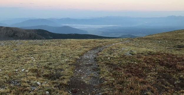 Early Morning Colors of the Colorado Trail While Hiking Over Sanford Saddle