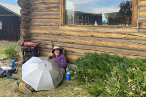 Waiting for Alfredo at Taylor Park Trading Post near Cottonwood Pass on Colorado Trail Day 15