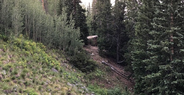 Small Cabin on the Other Side of Hope Pass on the Colorado Trail