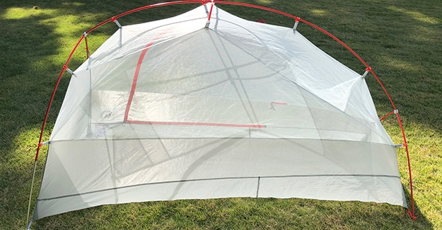 Back View of Copper Spur UL1 Tent