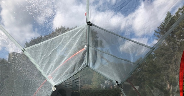 Interior Pockets on Copper Spur Tent