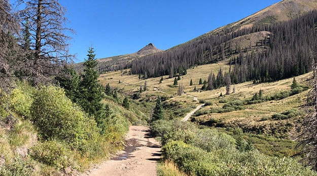 Road down to San Luis Pass Trailhead