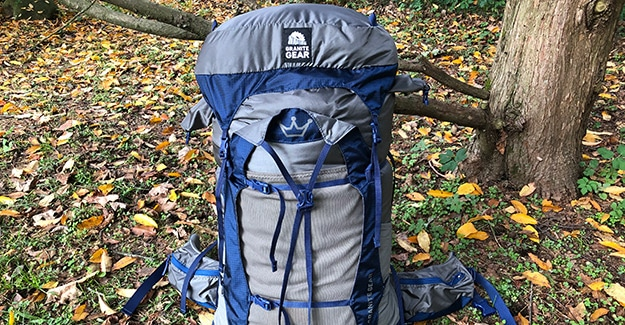 granite gear crown2 60 on new england trail