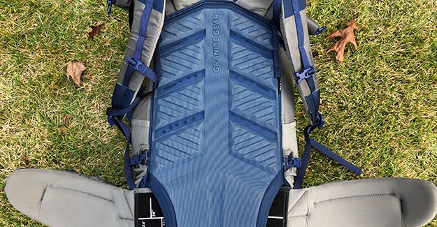 foam back pad on backpack