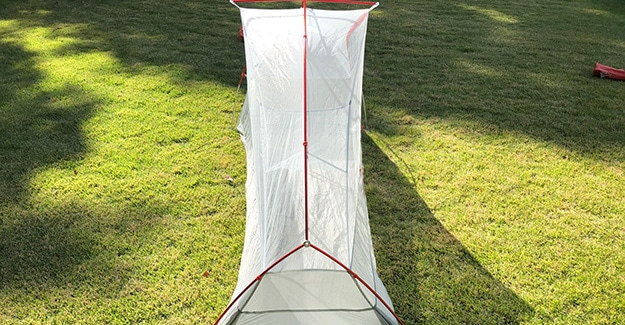 Exterior Rear View of BA Tent