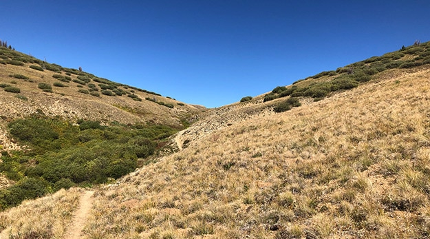 Climb up to Saddle Above Valley