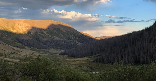 Pole Creek Drainage on the Colorado Trail