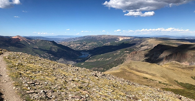 Climbing up to the Divide on the Colorado Trail