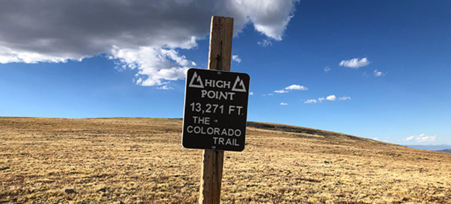 High Point on the Colorado Trail on Day 32