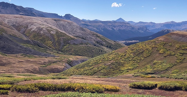 Looking Down Towards Molas Pass on Section 24