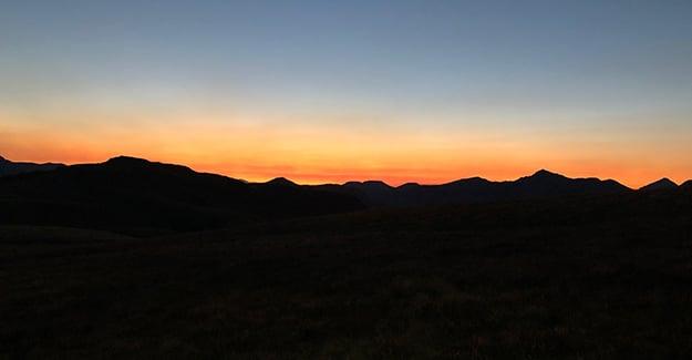 Colorado Trail Day 34 Sunrise Near Molas Campground